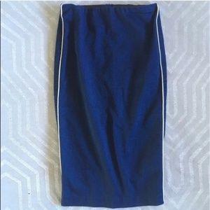 Zara Trafaluc Sporty Denim Pencil Skirt